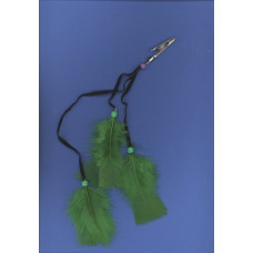 DZ FEATHER CLIPS GREEN