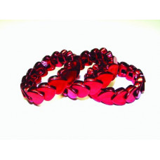 25DZ HEART BRACELET RED