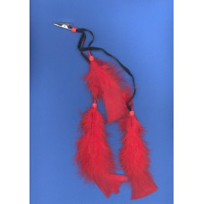 DZ FEATHER CLIPS RED