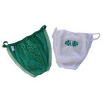 DZ PANTIES IRISH GRN/W