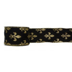 "2.5""X10YD FDL RIBBON BLK/GOLD"