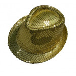 DZ SEQUIN FEDORA GOLD
