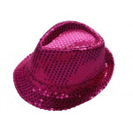 DZ SEQUIN FEDORA HOT PNK