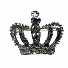 "2.5""CROWN BROACH PGG SILV"