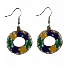 "1.25""KING CAKE EARRINGS PGG"