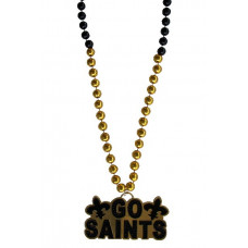 "6PC 14MM 36"" GO SAINTS BLK/GLD"