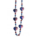 6PC USA HEART BEADS R/W/B
