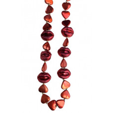 6PC VALENTINE BEADS RED