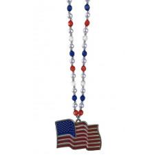 """6PC 40""""BEADS 4""""FLAG RWB USA"""