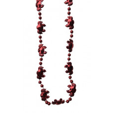 "DZ 36""CRAB BEADS RED"